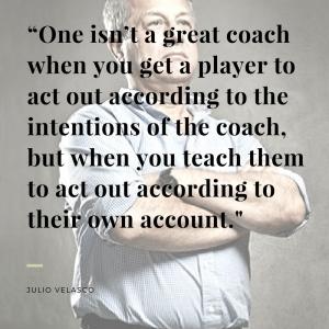 velasco on coaching